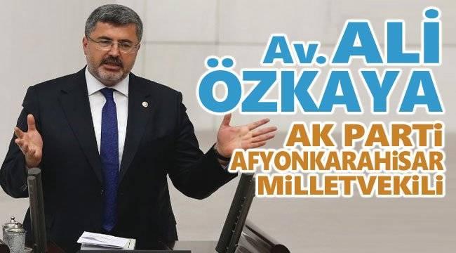 Milletvekili Ali Özkaya, Hüseyin Ceylan ULUÇAY'ı tebrik etti
