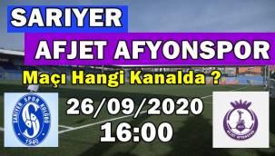 Sarıyer Afjet Afyonspor maçı canlı ne zaman, saat kaçta, hangi kanalda?