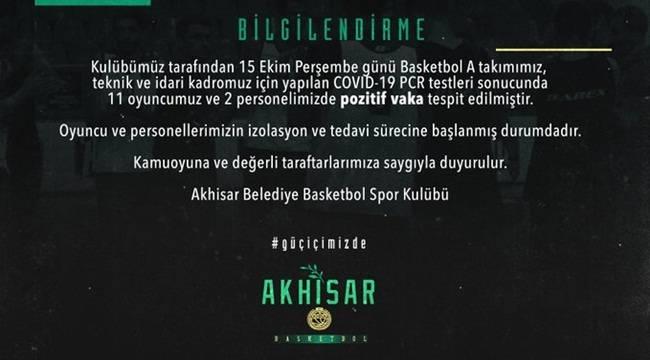 Akhisar Belediye Basketbol'da korona şoku !
