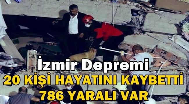İzmir Depremi: 20 Kişi Hayatını Kaybetti, 786 Yaralı Var
