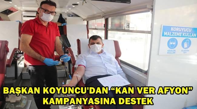 Serkan Koyuncu, kan bağışında bulundu