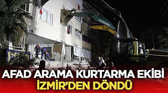 Afad Afyonkarahisar yardım ekibi İzmir'den döndü!