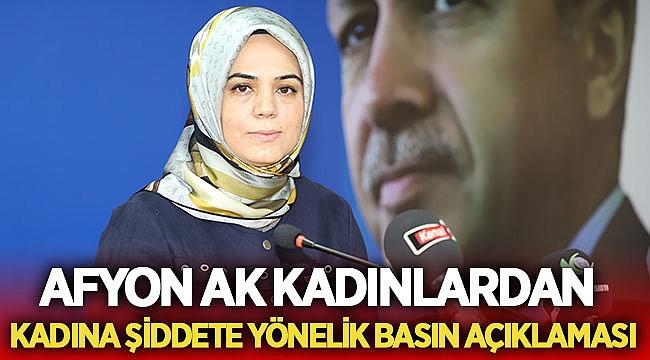 Afyon Ak Kadınlar'dan Kadına şiddete yönelik basın açıklaması