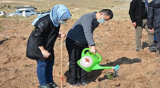 Emirdağ'da 14 bin fidan toprakla buluştu !