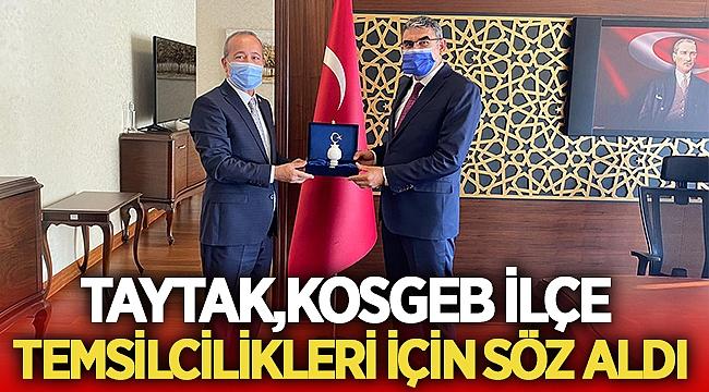 Mehmet Taytak, Kosgeb ilçe temsilcilikleri için söz aldı