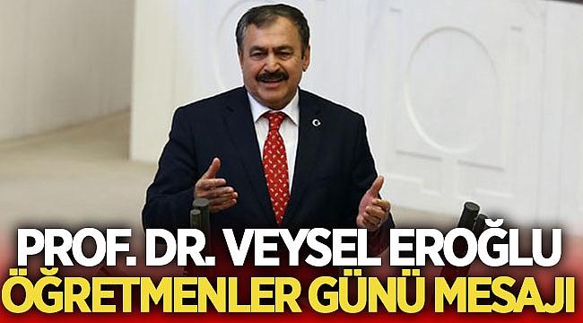 Prof. Dr. Veysel EROĞLU Öğretmenler Günü mesajı