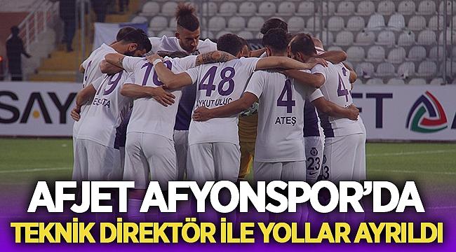 Afjet Afyonspor'da teknik direktör Özgür Zengin ile yollar ayrıldı!