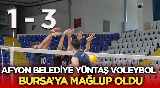 Afyon Belediye Yüntaş, evinde Bursa'ya mağlup oldu