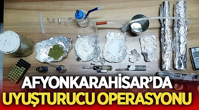 Afyon Emniyet Müdürlüğü 7 adrese uyuşturucu operasyonu yaptı
