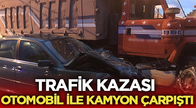 Bolvadin'de otomobil ile kamyon çarpıştı: 1 yaralı
