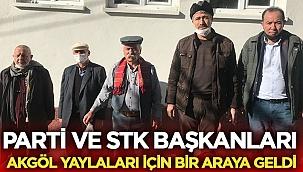Parti ve STK başkanları Akgöl yaylaları için bir araya geldi