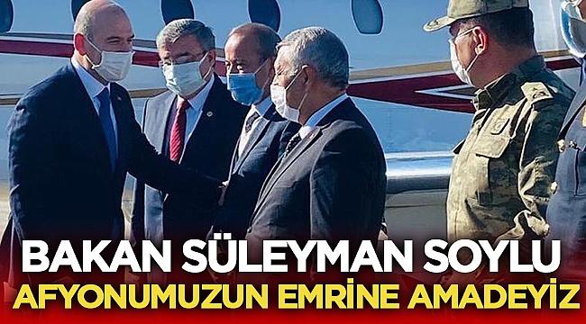 Süleyman Soylu, Afyon'un emrine amadeyiz!