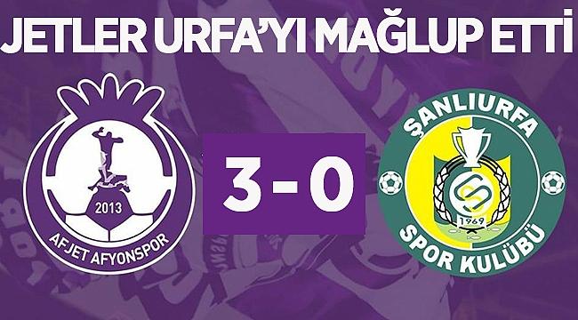 Afjet Afyonspor - Şanlıurfaspor maç sonucu 3-0