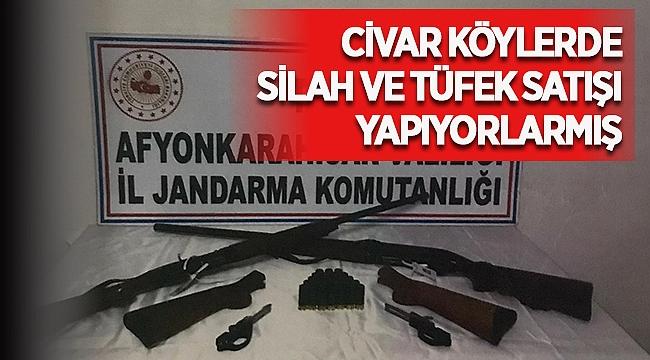 Afyon'un civar köylerinde silah ve tüfek satıyorlarmış