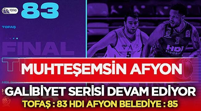 HDI Sigorta Afyon Belediye Tofaş'ı 83 - 85 mağlup etti!