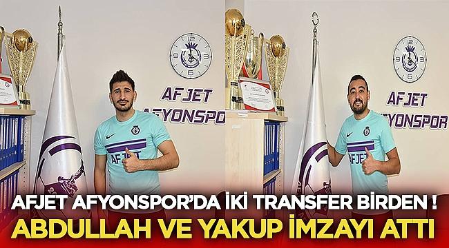 Mehmet Abdullah Çoban ve Yakup Yiğit Afjet Afyonspor'da!