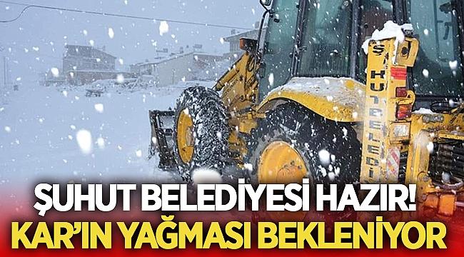 Şuhut Belediyesi Kar'la mücadeleye hazır!