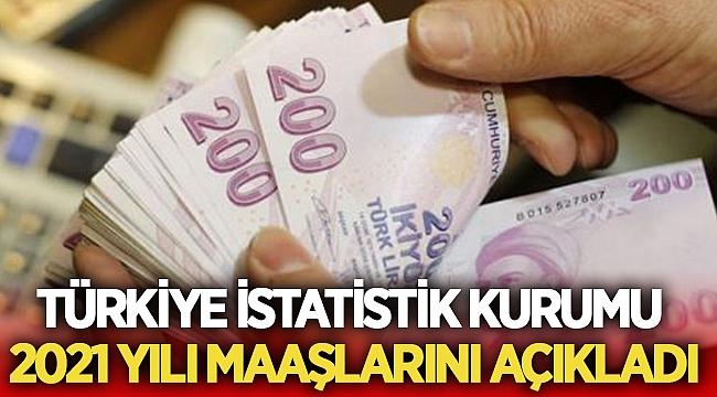 Türkiye İstatistik Kurumu 2021 maaşlarını açıkladı