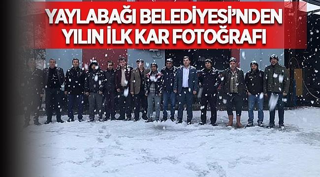 Yaylabağı Belediyesi'nden yılın ilk kar fotoğrafı!