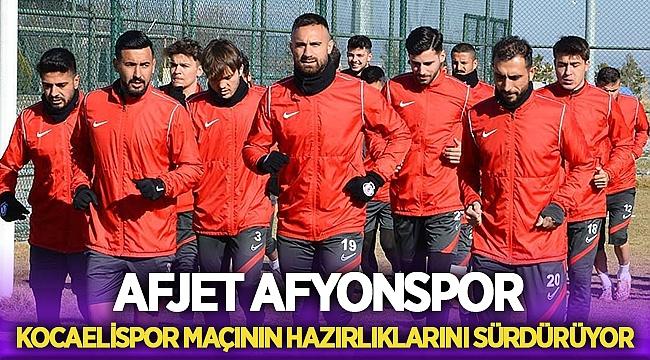 Afjet Afyonspor, Kocaelispor maçı hazırlıklarını sürdürüyor