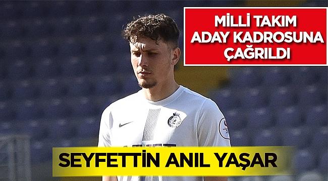 Afjet Afyonspor'lu Seyfettin Anıl Yaşar Milli takıma çağrıldı