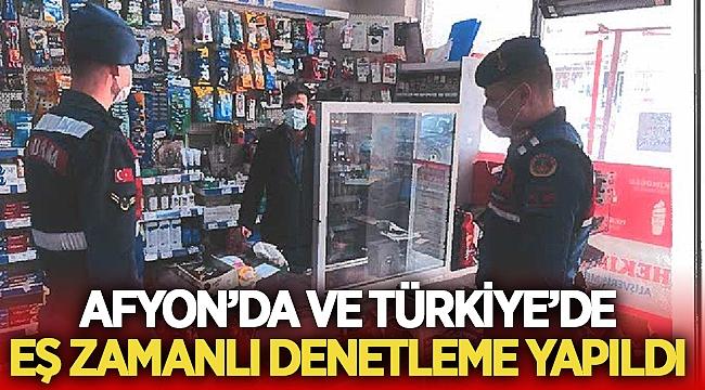 Afyon'da ve Türkiye'de eş zamanlı denetleme yapıldı