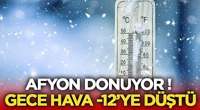 Afyon Donuyor! Dona dikkat!
