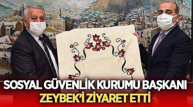 Afyon SGK İl Müdüründen Zeybek'e ziyaret!