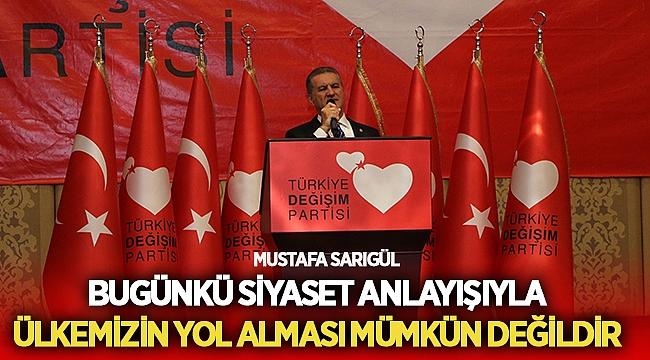 Mustafa Sarıgül, Akp'nin Reform Yapacak Enerjisi Kalmamıştır