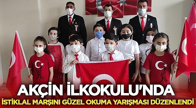 Akçin İlkokulu'nda İstiklal Marşını güzel okuma yarışması düzenlendi