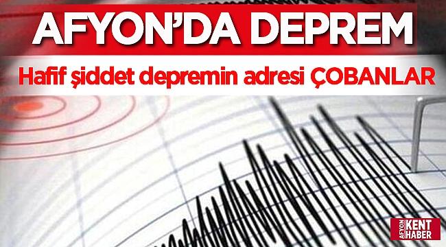 Afyon Son Dakika : Afyon'da deprem oldu!