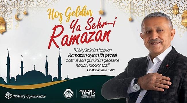 Mehmet Zeybek Ramazan ayı mesajı yayınladı