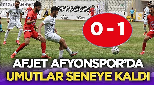 Afjet Afyonspor - Zonguldakspor maç sonucu 0 - 1