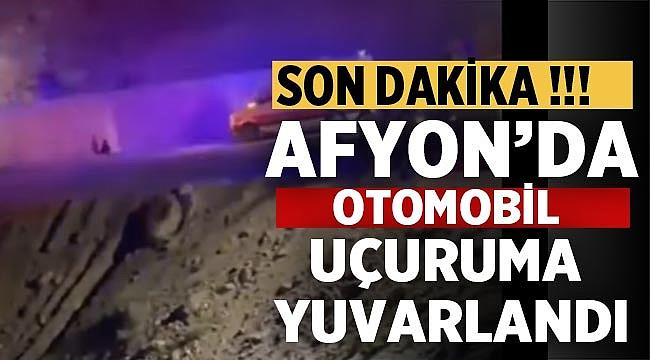 Afyon'da araç uçuruma devrildi: 1 ölü, 4 yaralı