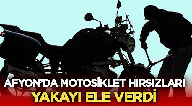 Afyon'da motosiklet hırsızları yakayı ele verdi