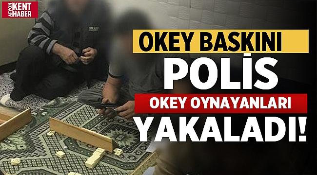 Afyonda polis okey oynayanları yakaladı: 8 kişiye ceza