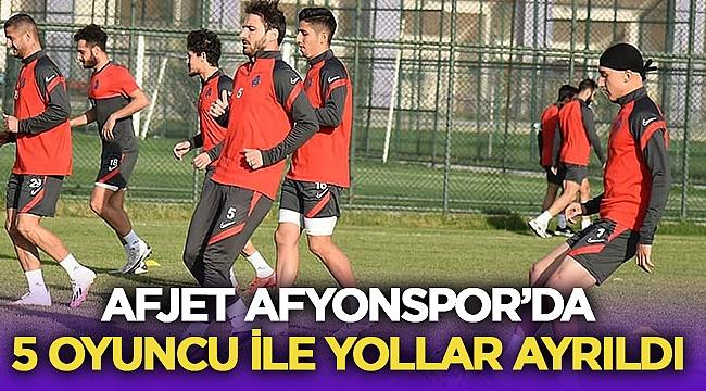 SON DAKİKA | Afjet Afyonspor'da 5 oyuncuyla yollar ayrıldı