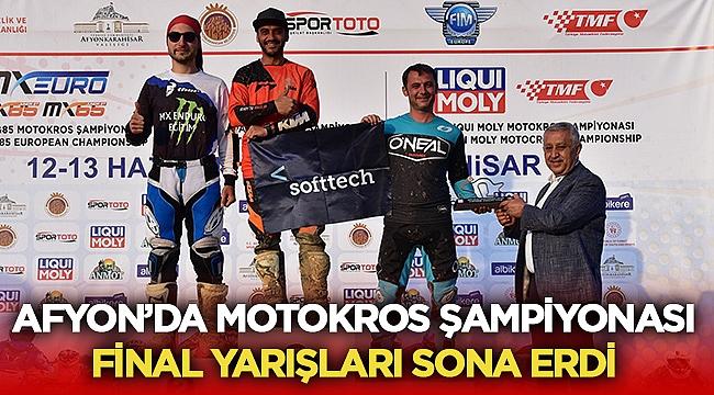 Afyon'da düzenlenen Motokros Şampiyonası sona erdi