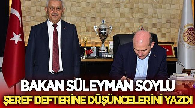 Bakan Süleyman Soylu Afyonkarahisar'a geldi