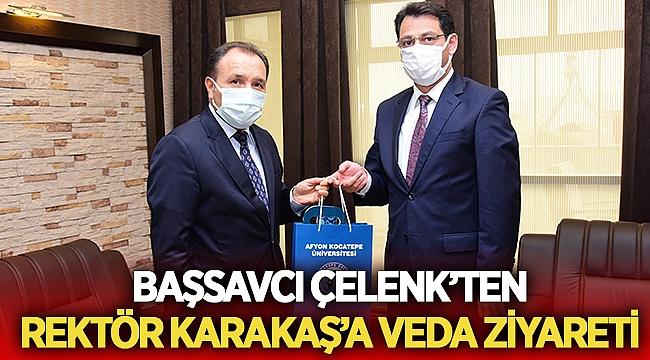 Başsavcı Mustafa Çelenk'ten veda ziyareti