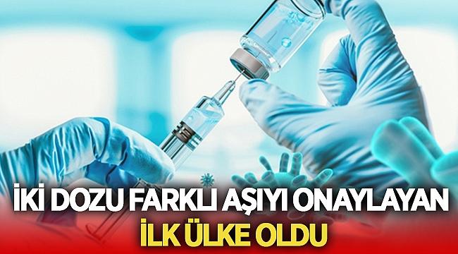 Bu ülke aşıların iki dozunun farklı olabileceğini açıkladı