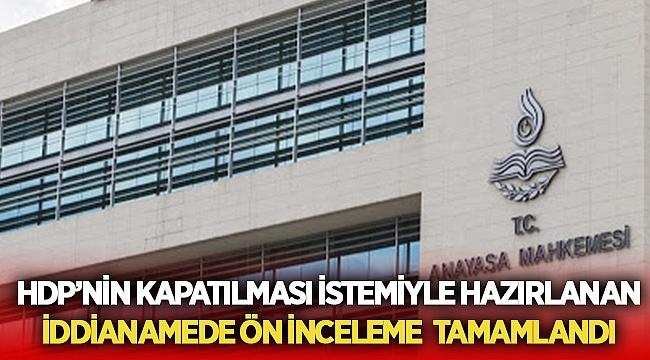 HDP'nin kapatılmasında iddianame kabul gördü