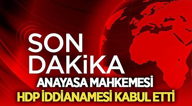 Son Dakika: AYM, HDP'nin kapatılmasına ilişkin iddianameyi kabul etti