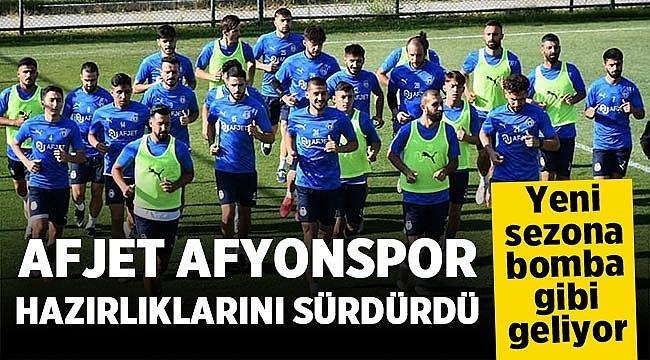 Afjet Afyonspor yeni sezon hazırlıklarını sürdürdü