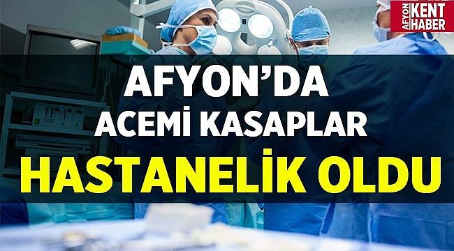 Afyon'da acemi kasaplar hastanelik oldu