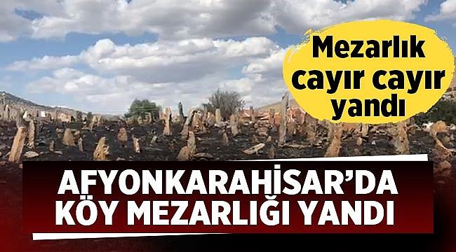 Afyon'da köy mezarlığı yandı!