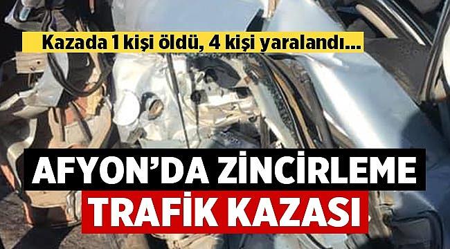 Afyon Yenice çevre yolunda zincirleme trafik kazası!