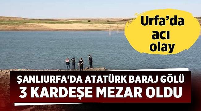 Şanlıurfa'da Atatürk Baraj Gölü 3 kardeşe mezar oldu
