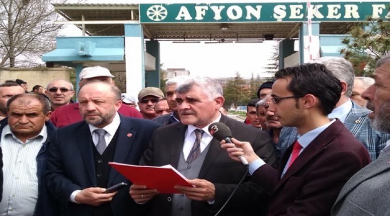 SAADET PARTISI AFYON ŞEKER FABRİKASI ZİYARETİ