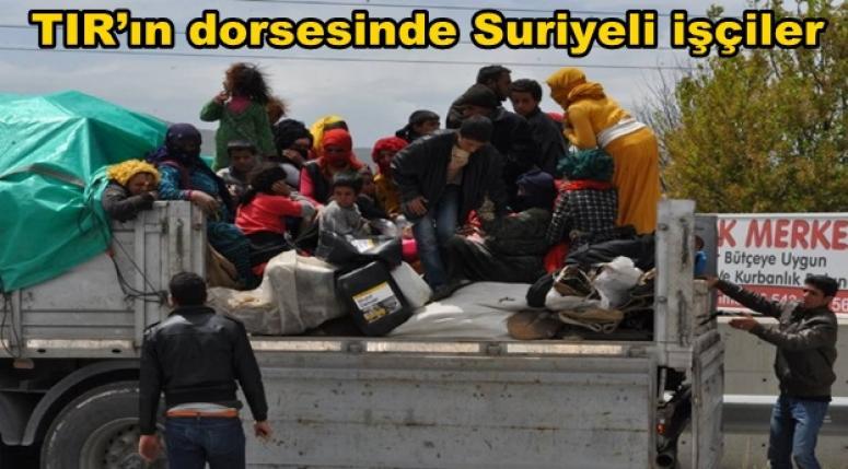 Afyonkarahisar'da Tır kasasında Suriyeli işçiler